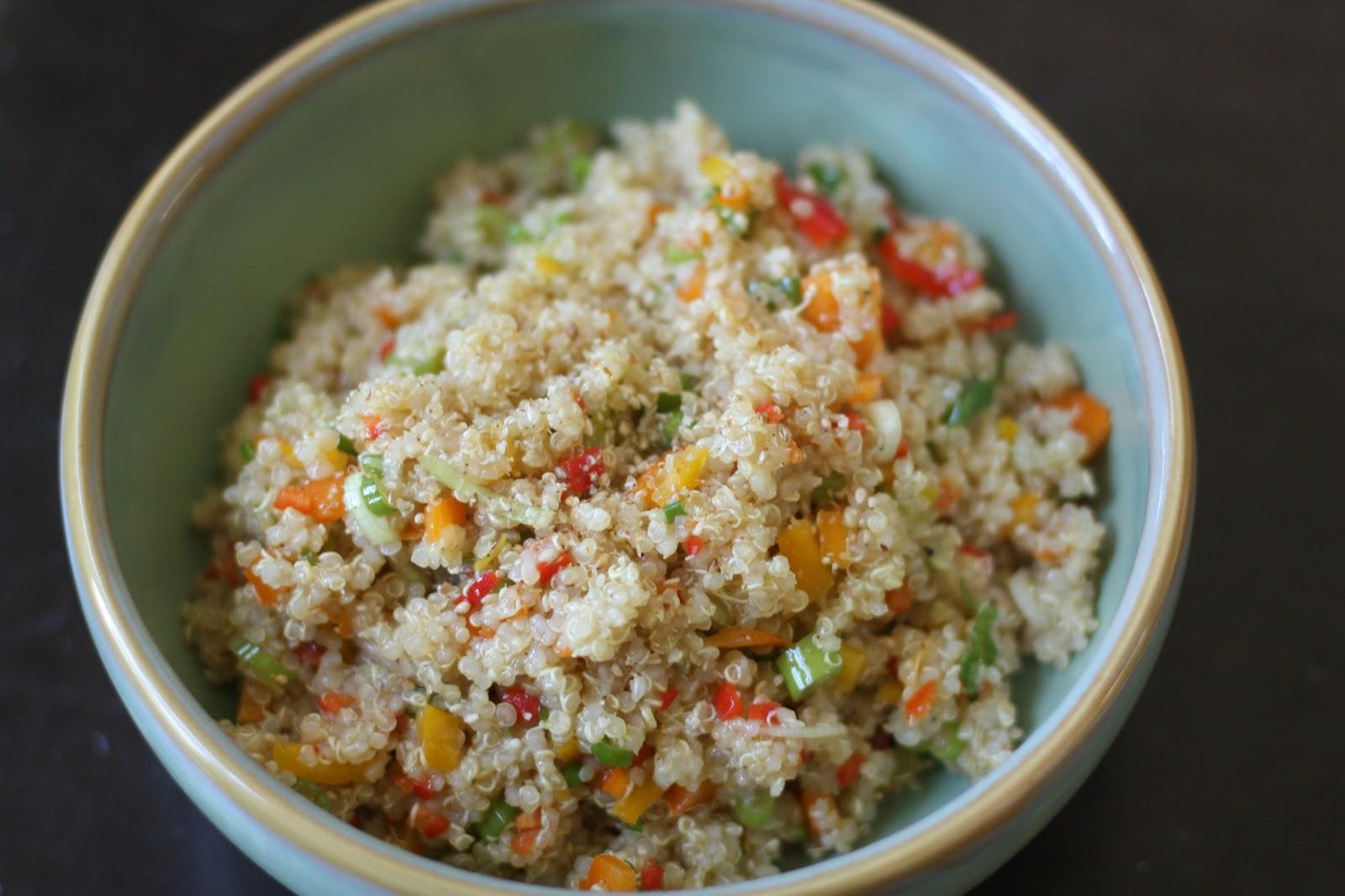 Asian Quinoa SaladLate nights in the kitchen Week of Menus