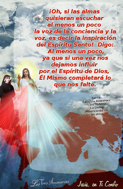 texto tomado del diario la divina misericordia hacerca de las inspiraciones