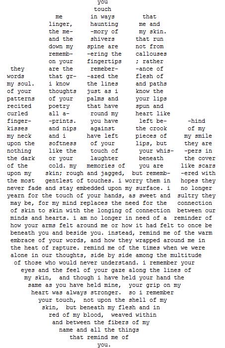 Heart Concrete Poem Concrete Poem About