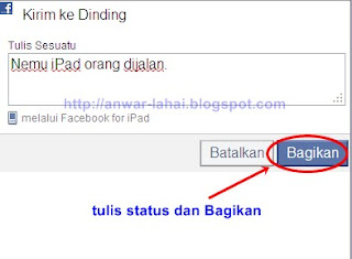 update status via iPhone BB 3 Cara Update Status Via Android Asli
