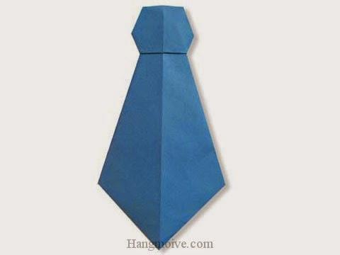 Cách gấp, xếp cái Caravat bằng giấy origami - Video hướng dẫn xếp hình đồ thời trang - How to fold a Necktie