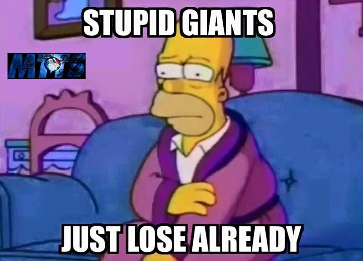 #stupidgiants,#giants, #HomerSimpson, #nfl, #giantshaters.- stupid giants just lose already