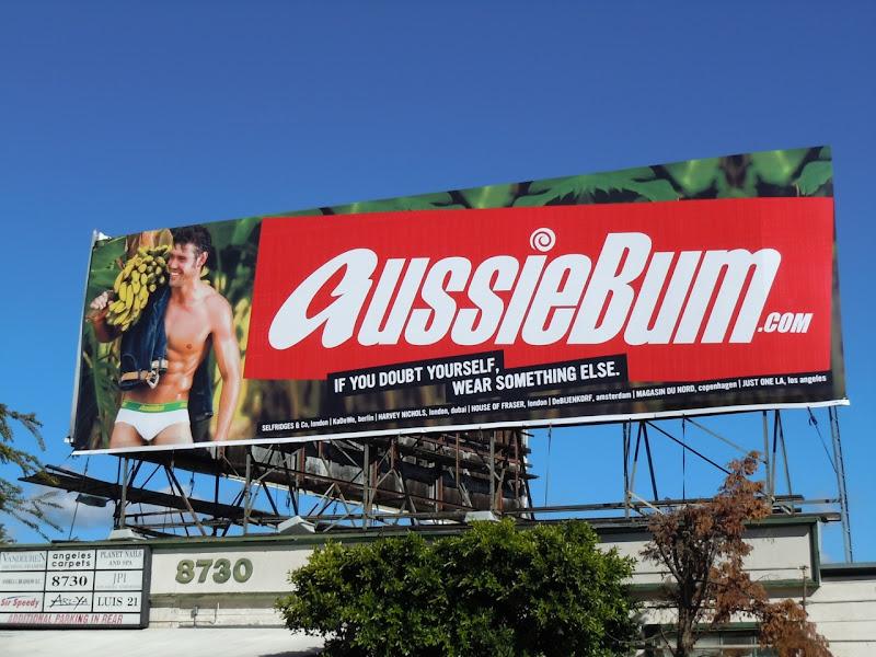 AussieBum banana underwear billboard