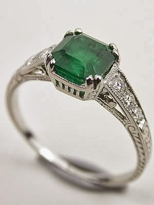 Engagement Ring Emerald Engagement Wedding Rings 51