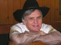Author Stephen Bly with cowboy hat