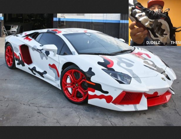 The Sneaker Addict Chris Brown S Fighter Jet Foamposite Camo Sneaker Inspired Lamborghini