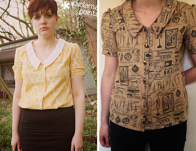 Mimi blouse - sewing pattern from Love at First Stitch