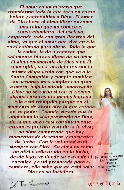 anotacion de santa faustina en el diario la divina misericordia
