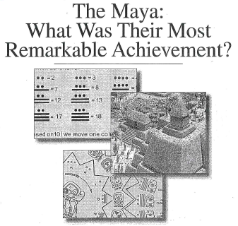 mayan document based essays The iconography of mayan ceramic art is the main focus of the flaar photo archive of pre-columbian art and archaeology gods, mythical creatures, and other deities of the pre-columbian pantheon are of especial interest the vase scenes document a complex mythology far beyond what is presented in the story of the popol vuh.