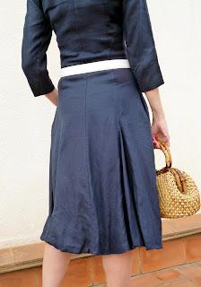 foto detalle para trasera falda vestido Isabel de Pedro