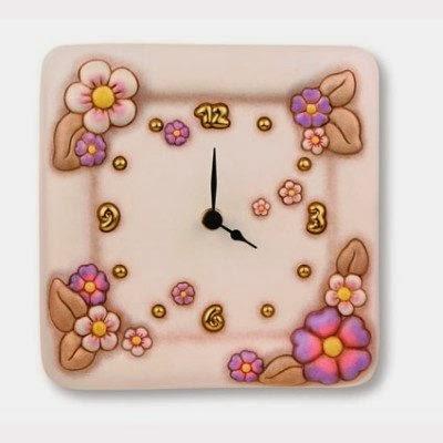 orologio da parete thun danza di primavera caratterizzato da colori tenui come il panna e il lilla starebbe benissimo nella mia cucina