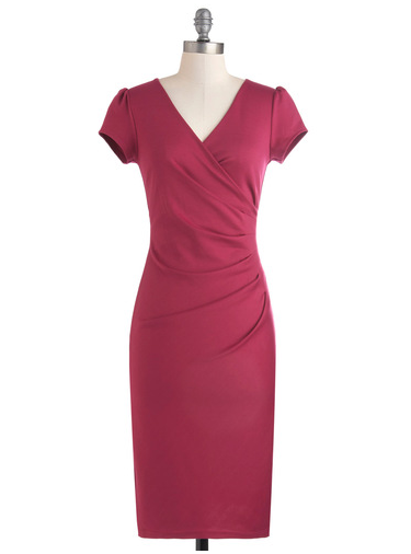 Pink 1960s Mad Men style dress from ModCloth