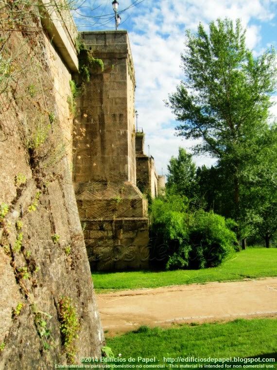 Cubos de refuerzo del Puente Romano de Ourense - EdP