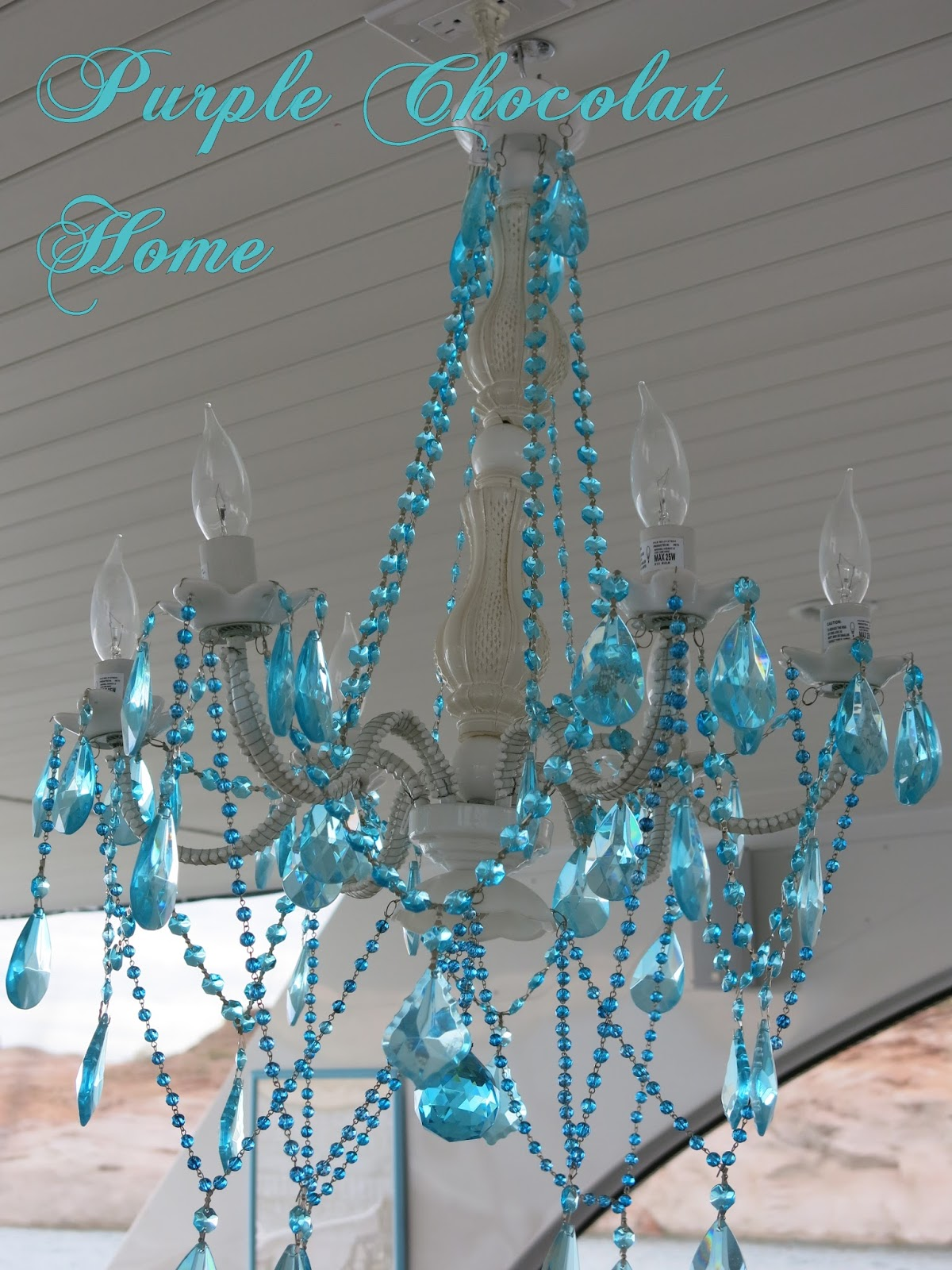 Outdoor Chandelier Makeover Purple Chocolat Home