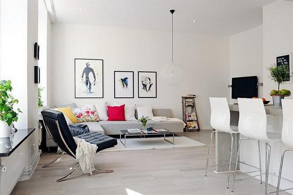 Cest une autre conception montrant comment on pourrait parfaitement utiliser les petits espaces sans abandonner le confort cette fois cest un design