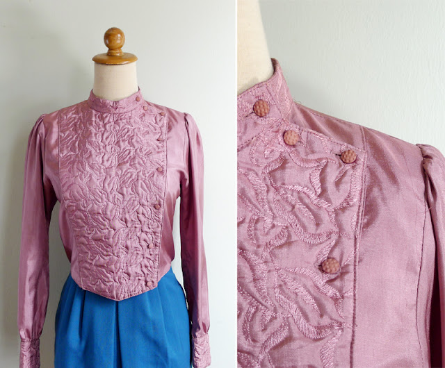 vintage pink silk motorcycle jacket