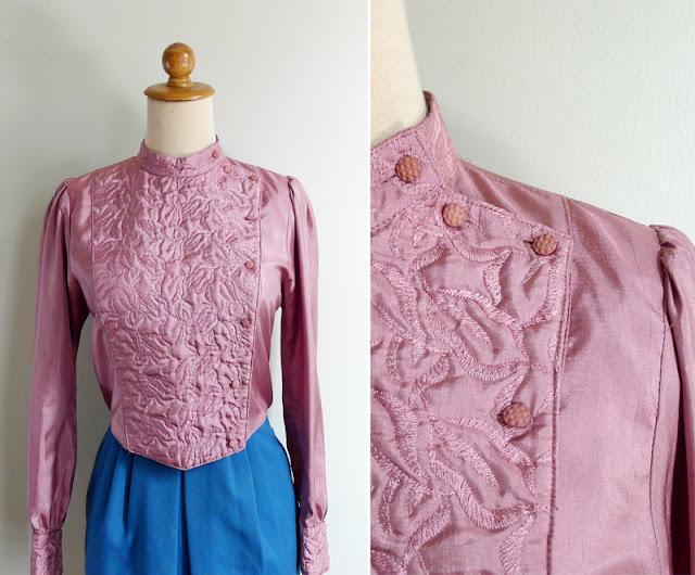 vintage pink silk motorcycle jacket