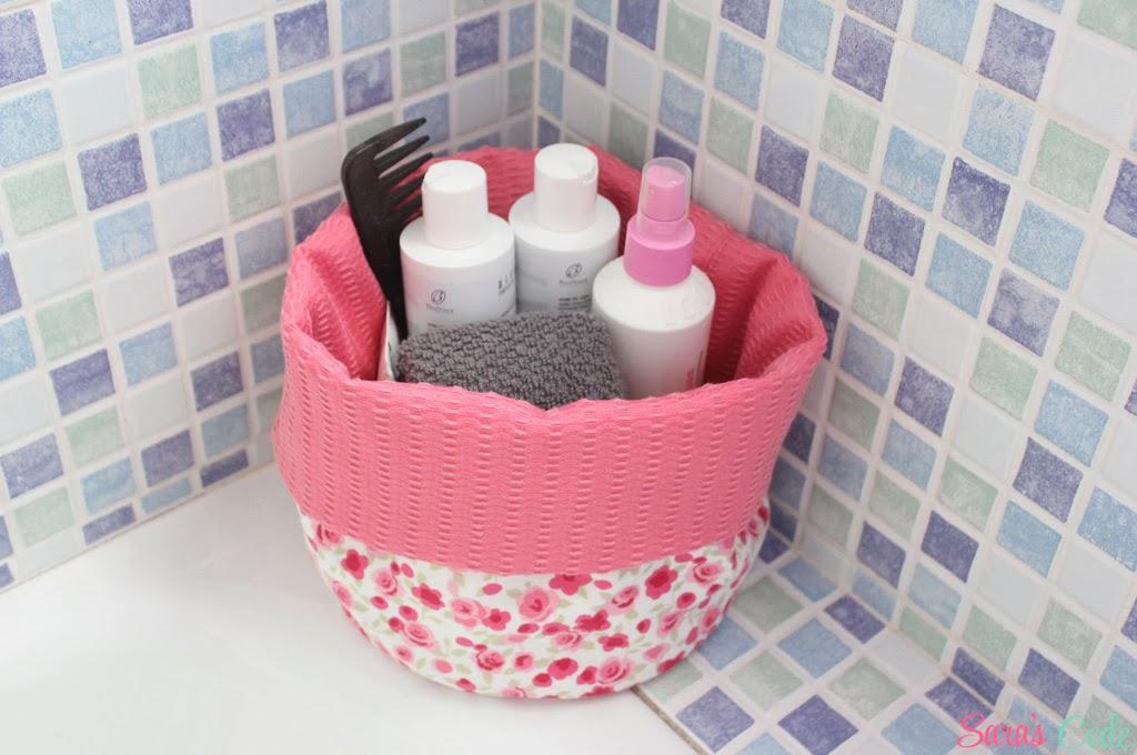 Diy cesta de tela circular sara 39 s code blog de costura - Cestos para el bano ...