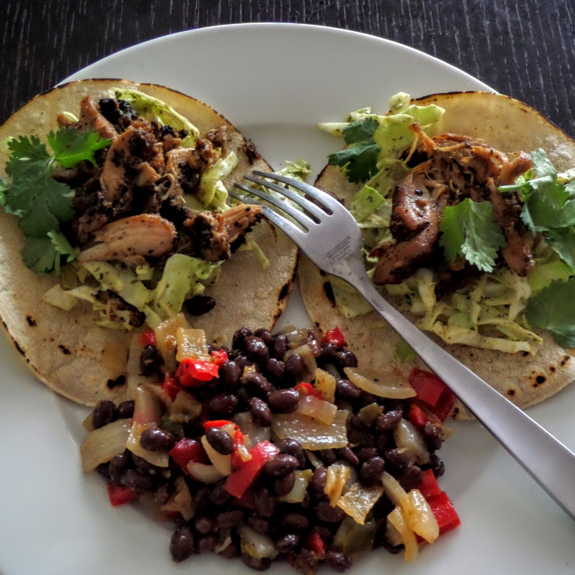 Simple Chicken Tacos and Black Beans: A very simple dinner using ...
