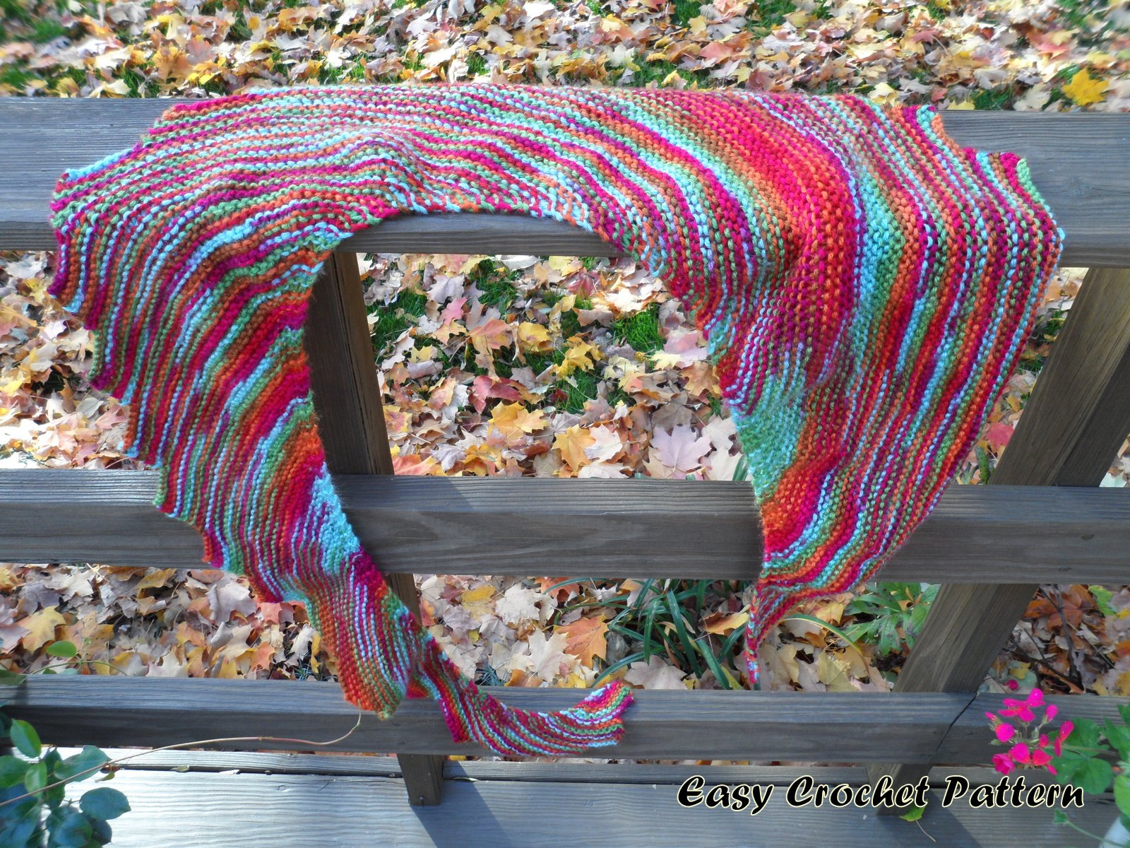 Easy Crochet Pattern: Knit Dragon\'s Tail Scarf Finish