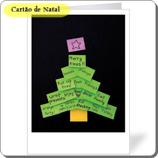 cartão natal post it