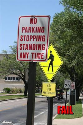 矛盾する標識