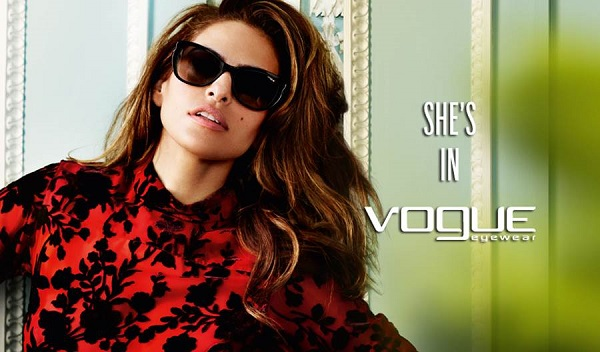 Eva Mendes stars for the Vogue Eyewear Spring/Summer 2014 Campaign