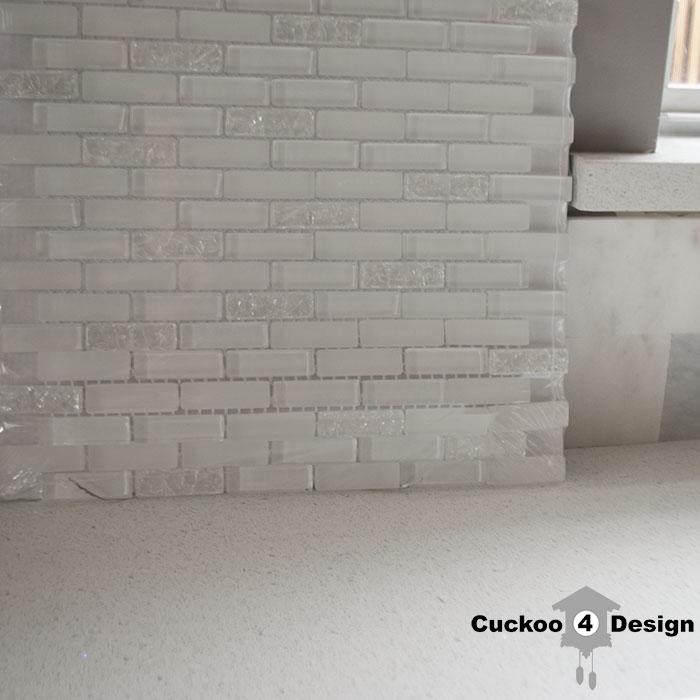lowes glass tile backsplash that look like ice cubes