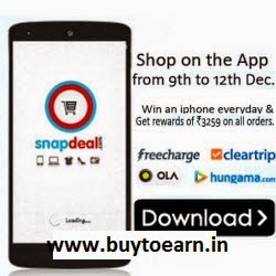 Snapdeal: Buy Shop on Snapdeal App Get at Rs. 3259 voucher and Chance to win iPhone 6