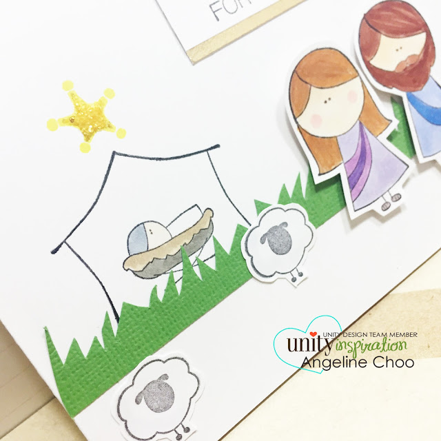 ScrappyScrappy: Jesus is the reason for the season #scrappyscrappy #unitystampco #christmas #nativity #jesus #card