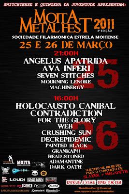 Cartaz Moita Metal Fest 2011