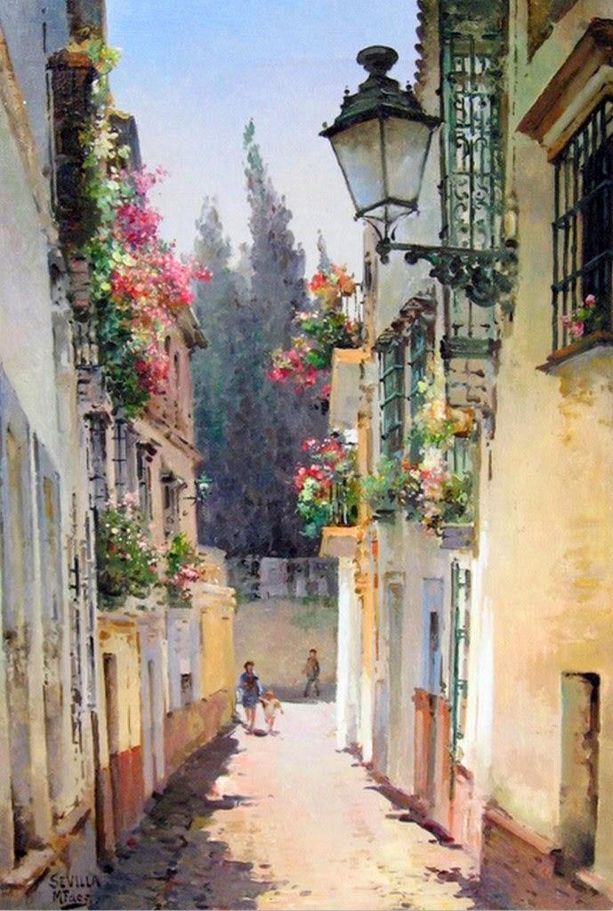 paisajes-coloniales-en-acuarela-y-oleo