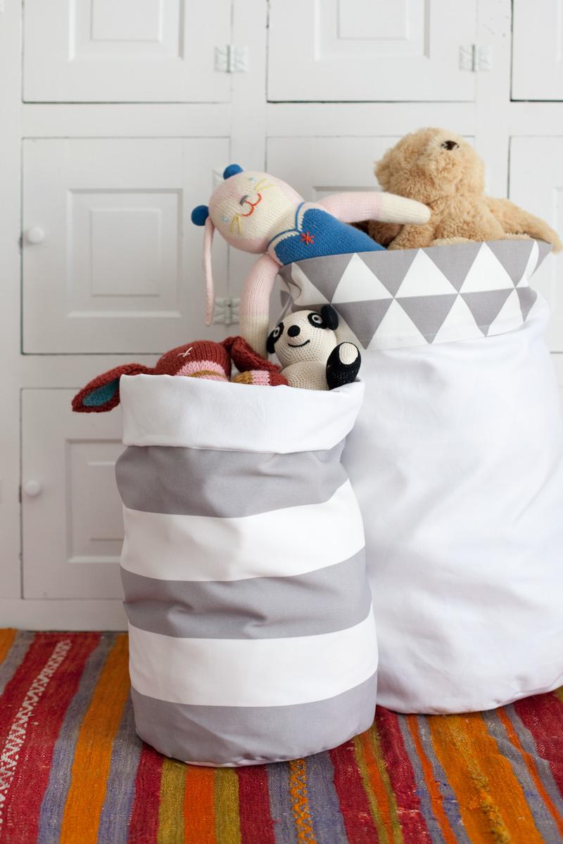 Geschenk selbermachen – Wäschekorb, Spielzeugbeutel, Handarbeitskorb nähen