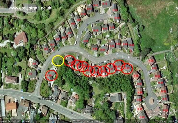 Imagen satelital de un proyecto para instalar un equipo comunitario de biomasa