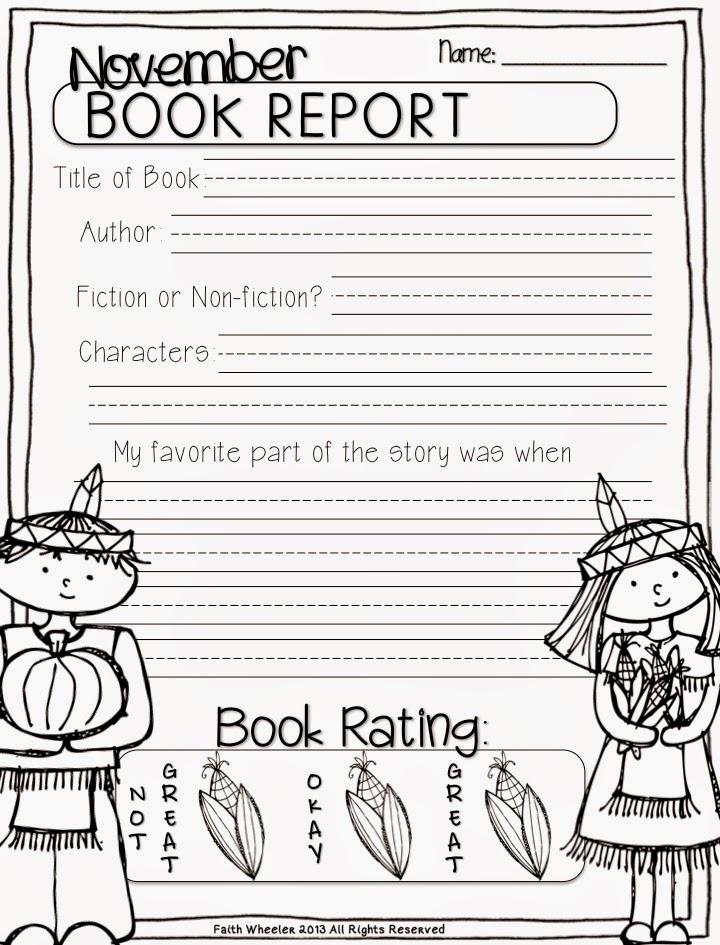 book report parts