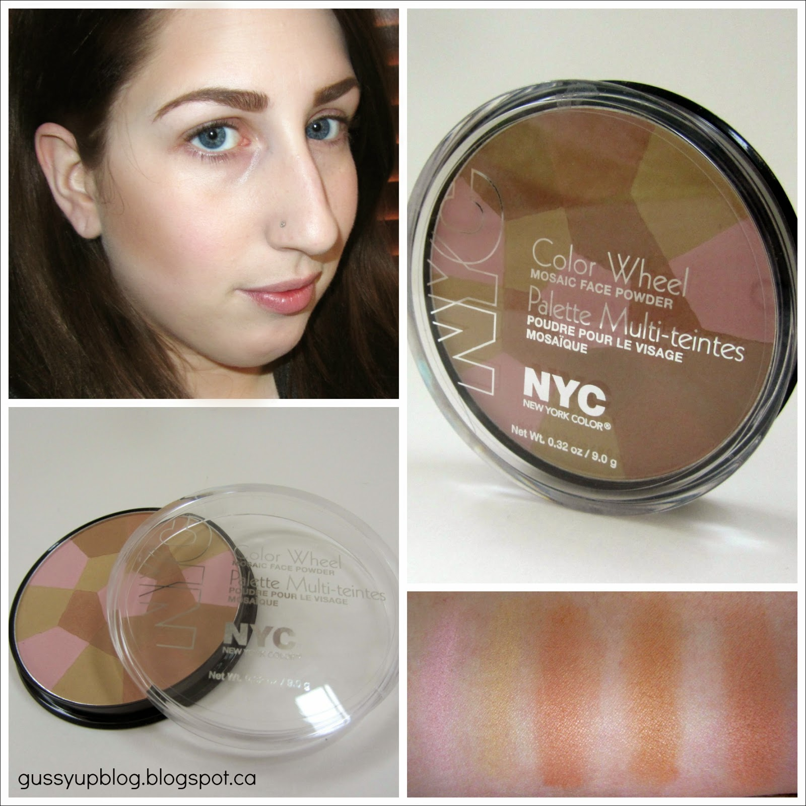 NYC Color Wheel Mosaic Face Powder, No. 726 Bronzed Pink, Review and Swatches