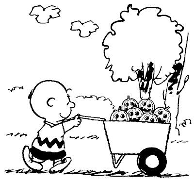 Charlie Brown Halloween Coloring