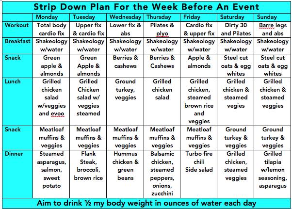 6 days slim down diet