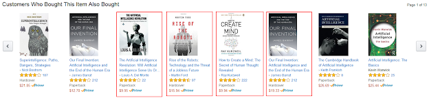 "Amazon screenshot showing related purchases for ""Smarter Than Us"" by Stuart Armstrong"
