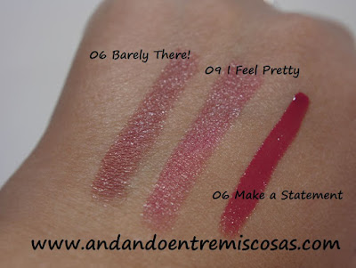 Swatches de labiales de Essence