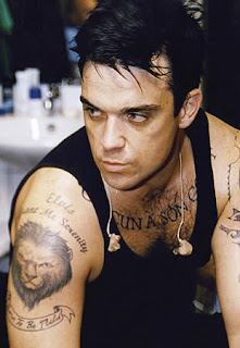 Robbie Williams Tattoo Ideas for Men - Robbie Williams Tattoo Design Photo Gallery