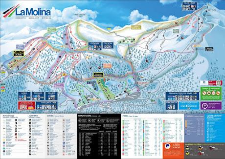 Plànol estació La Molina