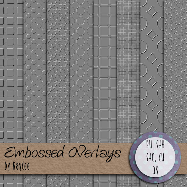 "Free scrapbook ""Embossed overlays"" from Kaycee"