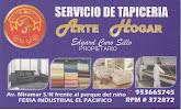 """Servicio De Tapiceria """"Arte y Hogar"""""""