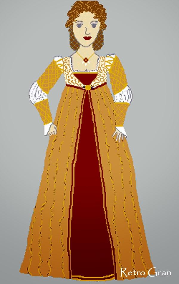 Retro Gran Renaissance Wedding Dress Design