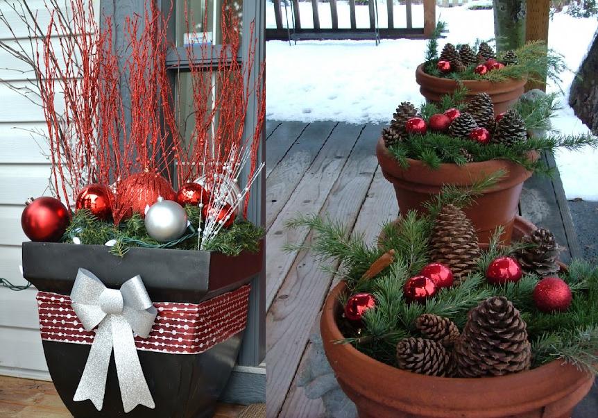 lo primero que hay que decorar es la puerta de entrada en ella se coloca una corona navidea elaborada con pasto artificial y pequeas flores rojas o bolas