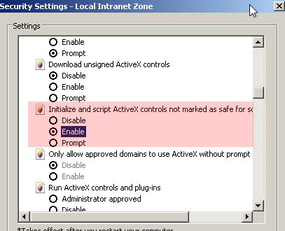 Tech blog internet explorer enable scripting activex windows scripting enable it ccuart Choice Image