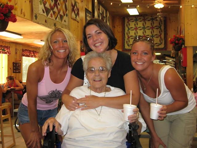 Lois Gertsch with grandkids