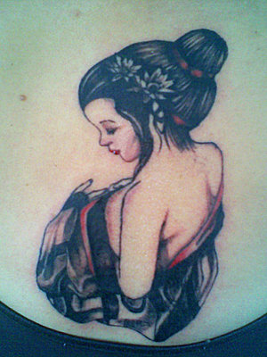 Japanese Geisha Tattoo Design Picture 2