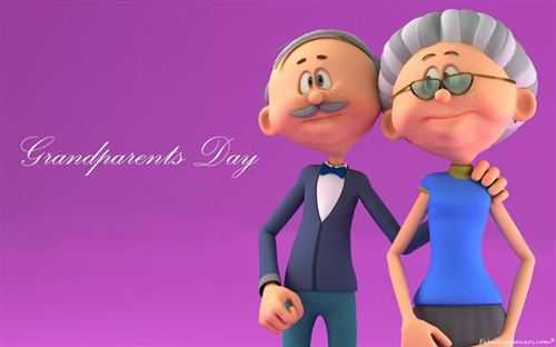 The Pictures Of Two Cartoon Grandparents Character For Facebook Cover